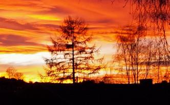 Sonnenuntergang in Undingen